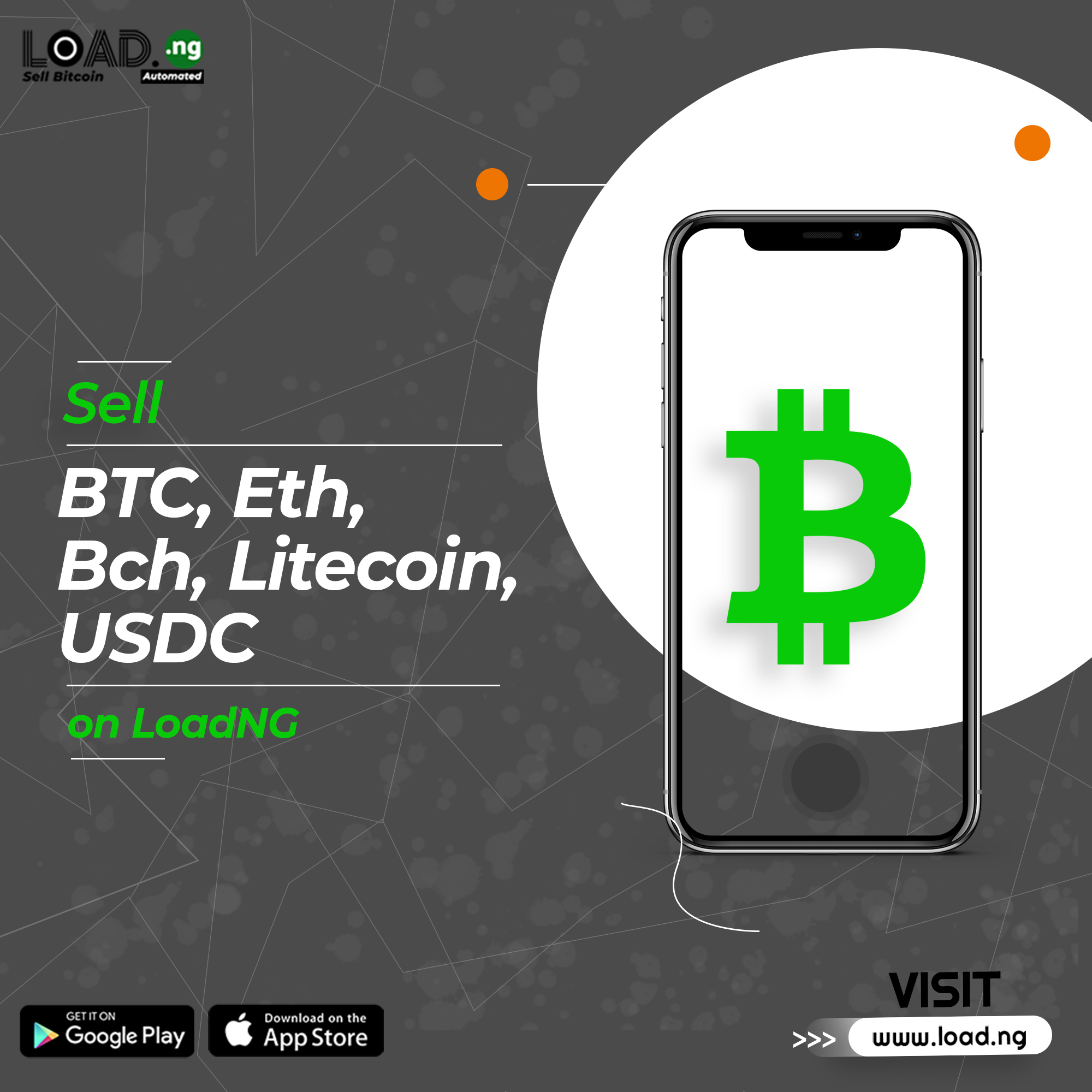 The New Universal System to sell bitcoin to cash instantly to naira on LoadNG